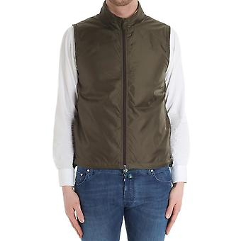 Aspesi men's PI21796196390 green nylon vest