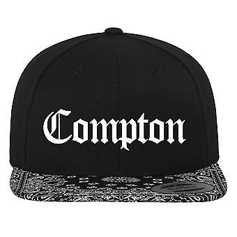 Merchcode Snapback Cap - sort COMPTON / bandana