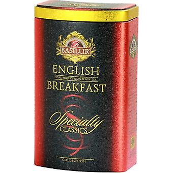 Basilur Tea English Breakfast Loose Black Tea In Metal Tin Caddy 100G