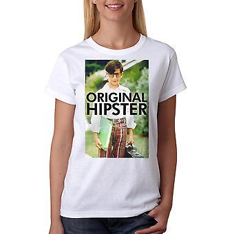 Den underligt år oprindelige Hipster kvinders hvid T-shirt