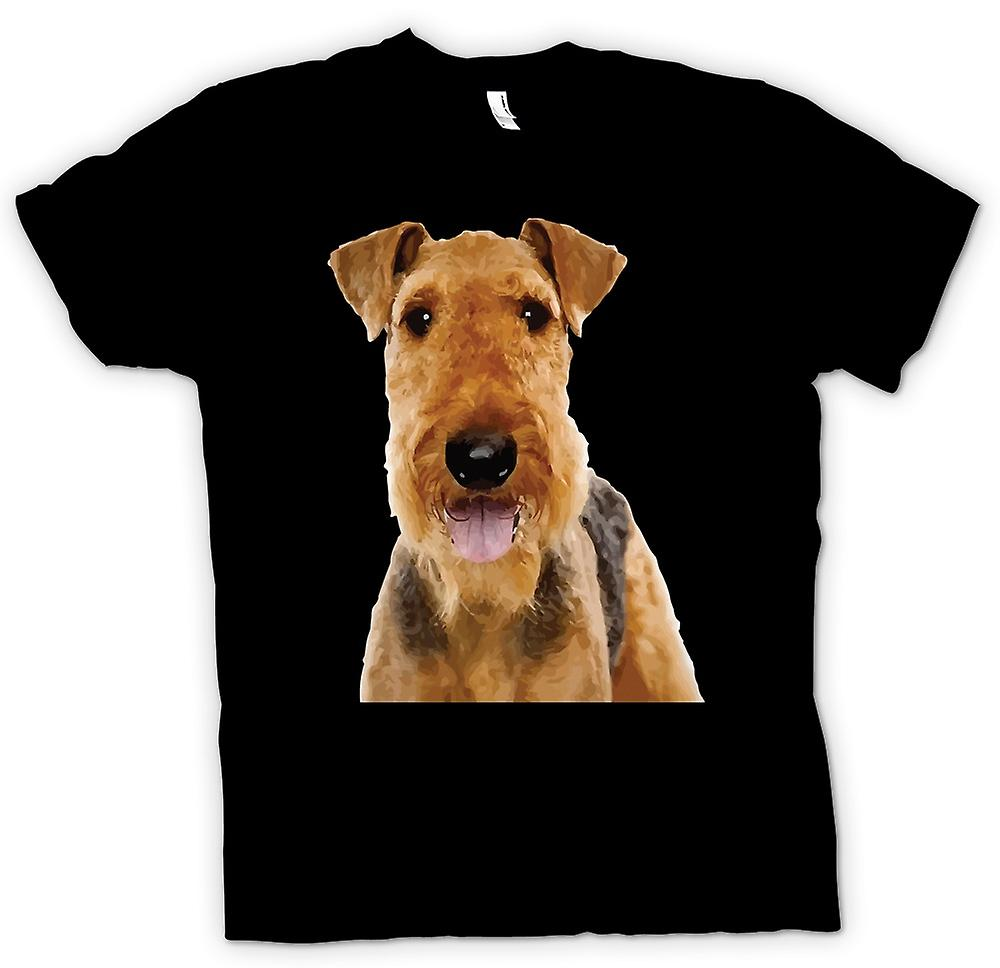 Mens t-shirt-Airdale Terrier cane