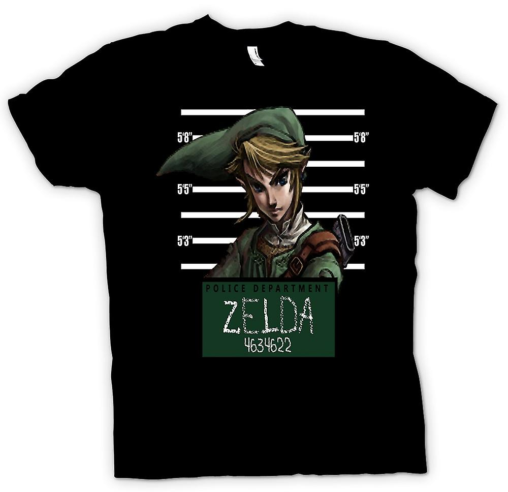 Mens t-shirt-Zelda - Mug Shot - Funny