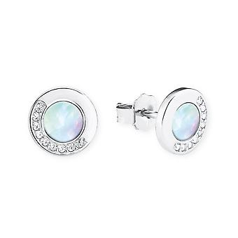 s.Oliver jewel ladies earrings cubic zirconia silver mother of Pearl 2020979