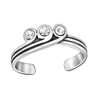 Tiara - 925 Sterling Silver Toe Rings - W29400x