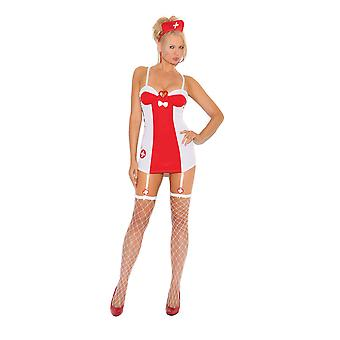 Elegant Moments Sexy Flirty Nurse Halloween Costume