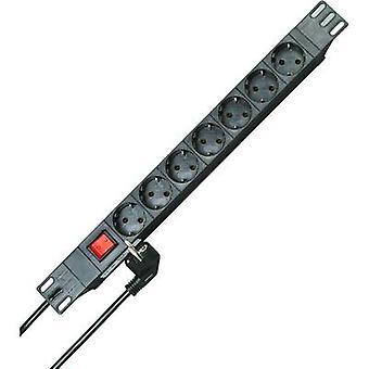 Kopp 930705011 19 socket strip 7x Black PG connector
