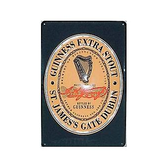 Guinness Label Embossed Steel Sign 300Mm X 200Mm