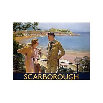 Scarborough (hombre & Lady)(Is) (antiguo ferrocarril Ad.) Imán de nevera
