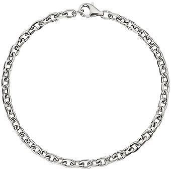 D'ancrage bracelet 925 argent sterling argent bracelet de diamants 21 cm