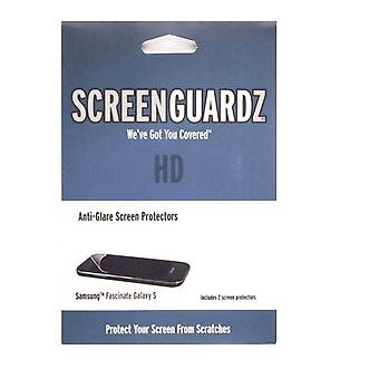 5 pakke-ScreenGuardz + HD anti-refleks skjermbeskytter for Samsung fascinere/mesmerize (Galaxy S) SCH-I500 (2-Pack)