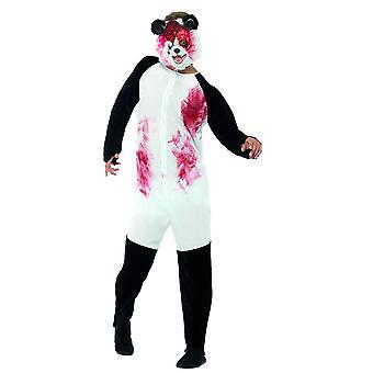 Män kostymer Zombie panda Halloweenkostym