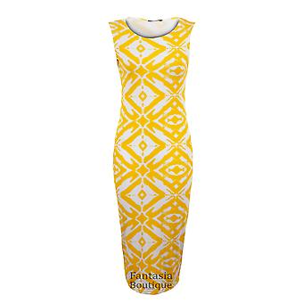 New Ladies Cap Sleeve Tribal Snake Print Midi Women's Bodycon Dress