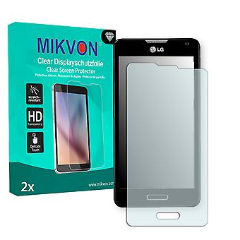 LG D505 Optimus F6 Screen Protector - Mikvon Clear (Retail-Paket mit Zubehör)