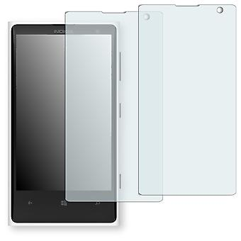 Nokia Elvis display protector - Golebo crystal-clear protector (deliberately smaller than the display, as this is arched)