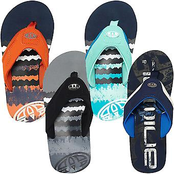 Animal Boys Jekyl Logo Slip On Beach Holiday Summer Thongs Sandals Flip Flops