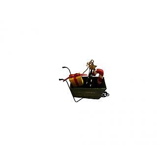 Shoeless Joe Novelty Wheelbarrow  Christmas Tree Decoration