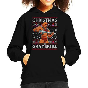He Man Christmas In Grayskull Kid's Hooded Sweatshirt