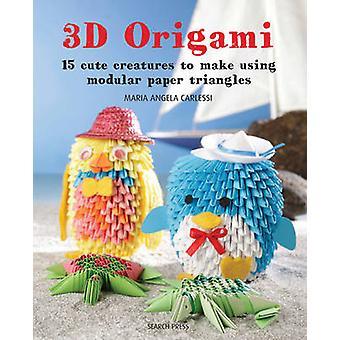 3D Origami - b triángulos de papel de 15 criaturas lindos para hacer Modular el uso de