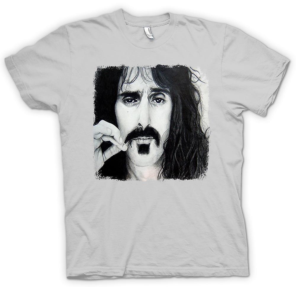 Mens T-shirt - Frank Zappa - portret schets
