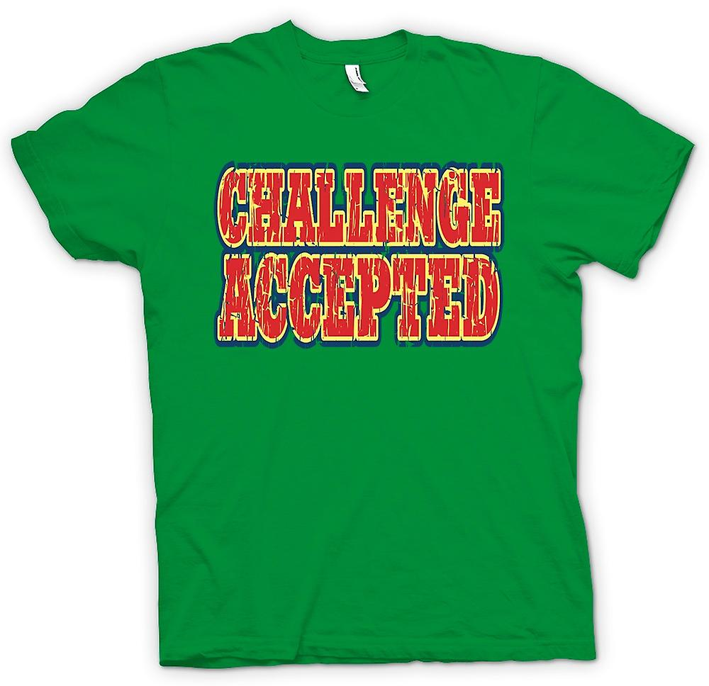 Hommes T-shirt - Challenge Accepted