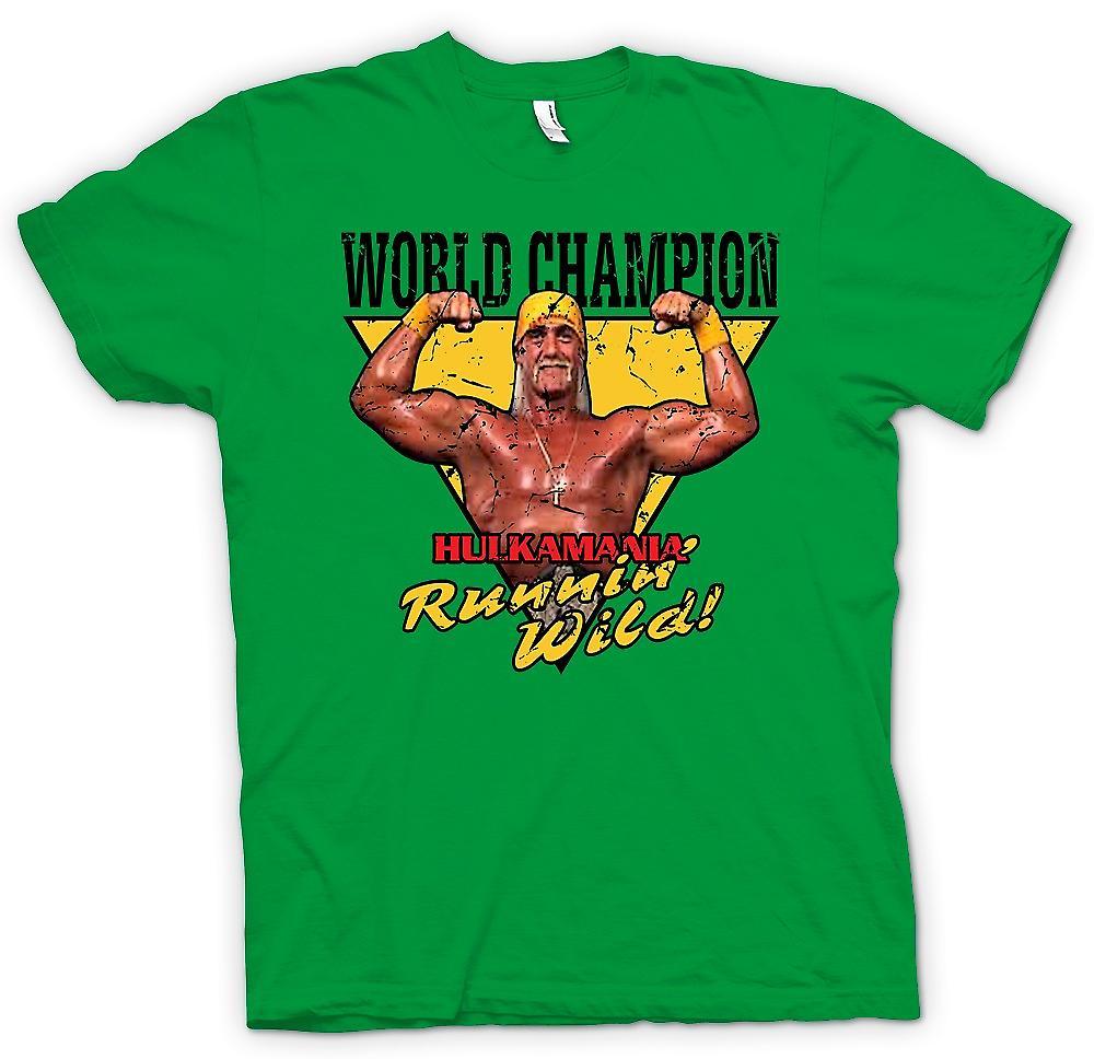 Heren T-shirt - wereldkampioen - Hulk Mania Running Wild