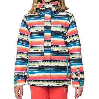Rip Curl Optical White Olly Printed Girls Snowboarding Jacket