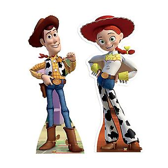 Woody y Jessie de Toy Story Lifesize Figura de cartón / espectador de pie Set