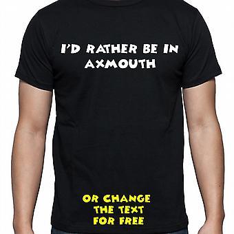 Ik had eerder worden In Axmouth Black Hand gedrukt T shirt