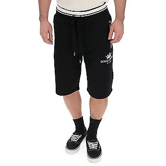 Dolce E Gabbana Black Cotton Shorts