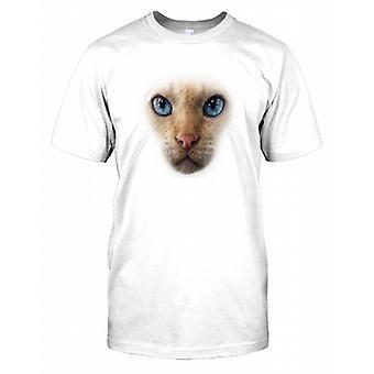 Siamesische Katze Haustier Katze Gesicht Kinder T Shirt
