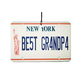 New York - Best Grandpa License Plate Car Air Freshener