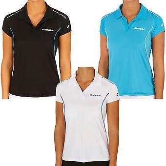 Babolat Womens Tennis Match Core Short Sleeve Polo Shirt Top