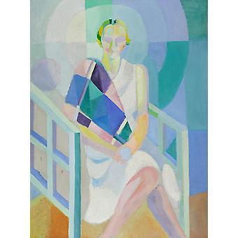 Study of Mrs. Ham's Painting, Robert Delaunay, 50x37cm