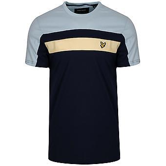 Lyle & Scott Lyle & Scott Navy Block färg T-Shirt