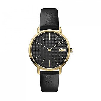 Guarda la luna 2001079 Lacoste - orologio display analogico bracciale in pelle nera donna