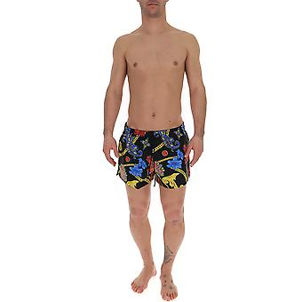 Versace Multicolor Nylon Trunks