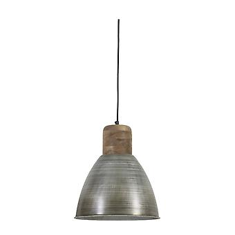 Light & Living Hanging Pendant Lamp D31x42Cm Ismay Wood Weather Barn And Antique Silver