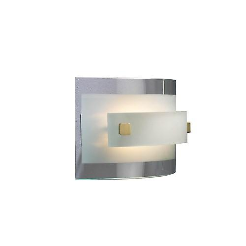 Dar JAV0746 Java Halogen Wall Washer Light With Curved Glass Panels