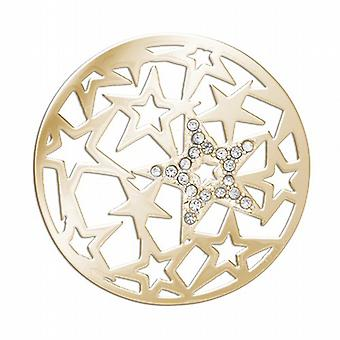 Lucet Mundi Goldtone 'Starlight' Coin for Interchangeable Locket Pendant