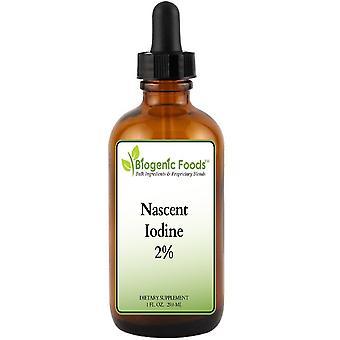Iodine - Immediate Bio-Availability - Non-Toxic Patented Nascent 2% Solution, 1 fl oz