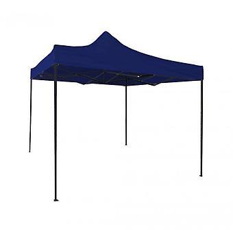 Rebecca möbler lusthus canvas blå drag spel metall polyester trädgård Markets 3 X 3