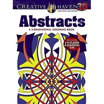 Creative Haven 3-D Abstracts Coloring Book by Brian Johnson - 9780486