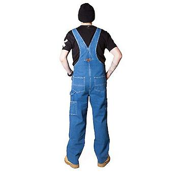Mens stonewash denim work dungarees