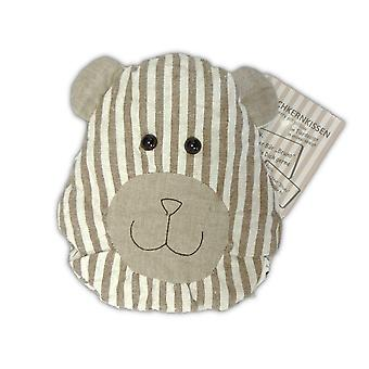 Childrens Stripey Heatable Cherry Pit Pillow: Bruno Bear
