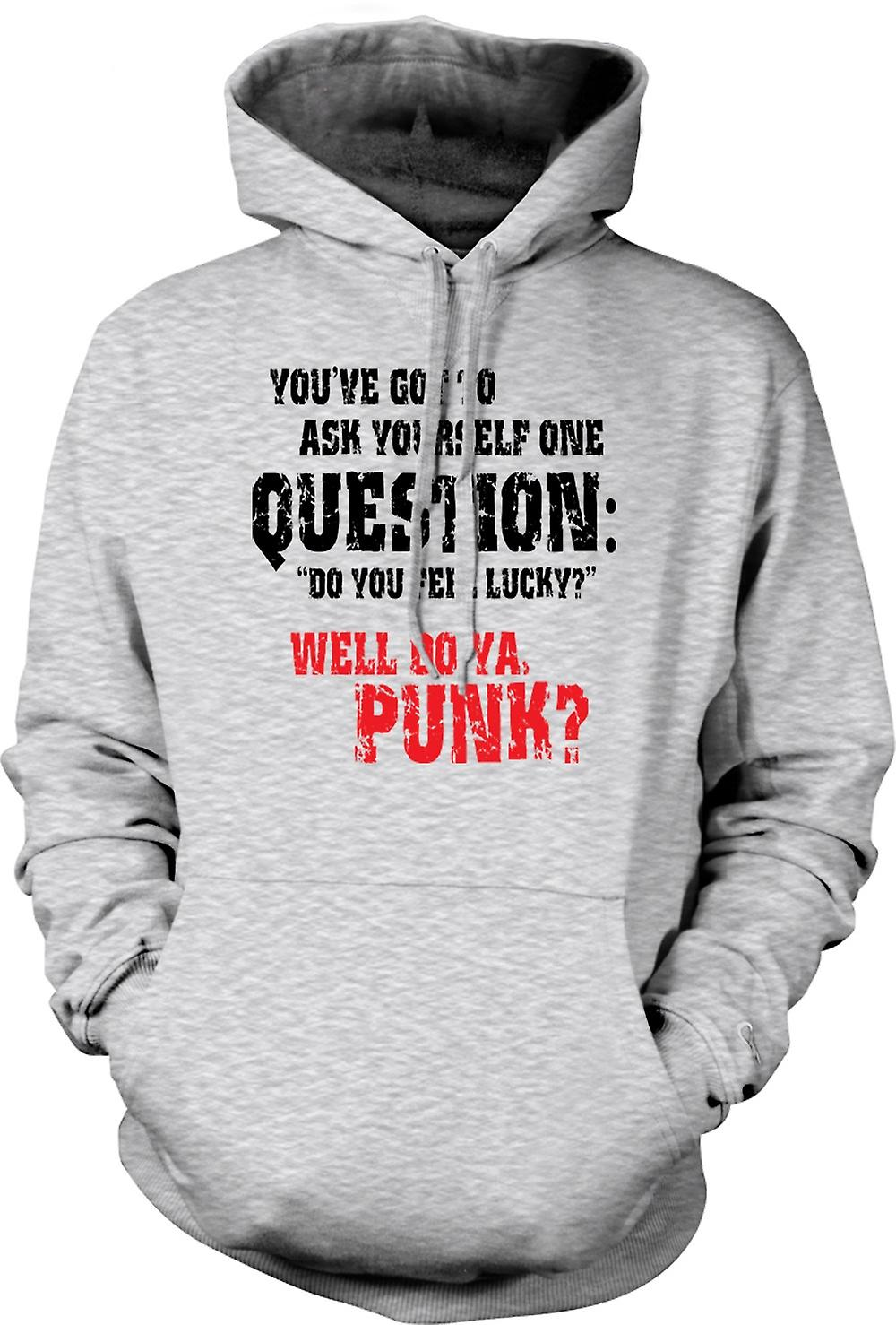 Mens Hoodie - Dirty Harry Do Ya Feel Lucky - Funny