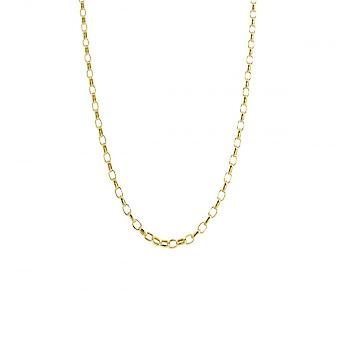 Eternity 9ct Gold 20'' Small Diamond Cut Belcher Chain