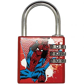 Marvel Comics Brass Padlock Spider-Man