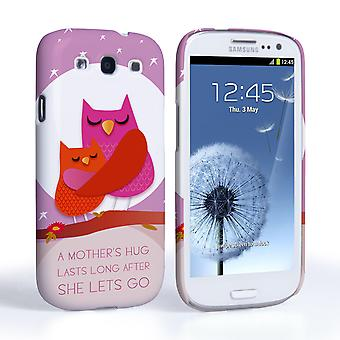 Caseflex Samsung Galaxy S3 Mummy Owl Hard Case – Purple and Pink