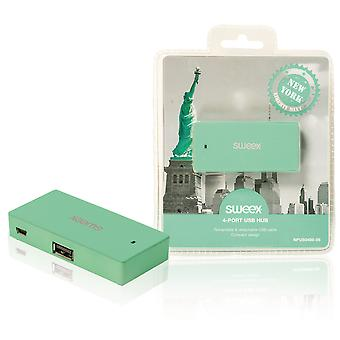 Sweex New York Mint 4 Port USB Hub - Green