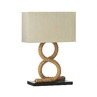 Premier Home Maine bordslampa/EU Plug, trä, Natural